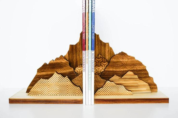 MokuShop Mountain Bookends